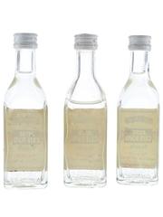 Jose Cuervo Bottled 1980s-1990s 3 x 5cl / 38%