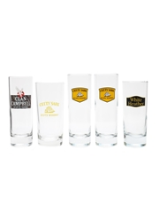 Clan Campbell, Cutty Sark & White Heather Highball Glasses