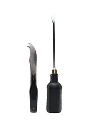 Buchanan's Black & White Fondue Fork & Cheese Knife