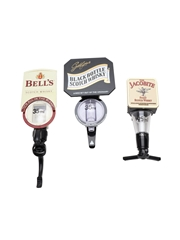 Bell's, Black Bottle & Jacobite Bar Optic Measures Beaumont and Gaskell & Chambers