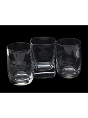Blair Athol, Dewar's, Old Pulteney Scotch Whisky Shot Glasses  6cm & 6.5cm