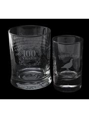 Famous Grouse Scotch Whisky Glasses  8.5cm & 10cm