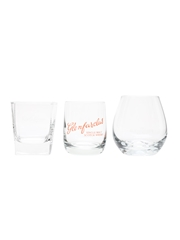 Dalwhinnie, Glenfarclas & Glenrothes Scotch Whisky Tumblers  7.5cm-10cm
