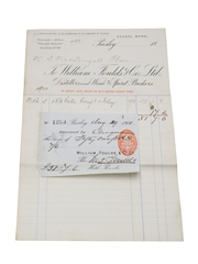 William Foulds & Co. Ltd. Purchase Receipt 1900 Campbeltown & Islay Whiskies