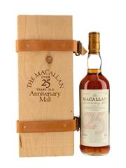 Macallan 1972 25 Year Old Anniversary Malt