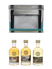 Bruichladdich Miniature Tasting Pack Rocks, Waves, Peat 3 x 5cl / 46%