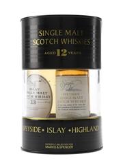 Speyside, Islay & Highland Single Malts Marks & Spencer 3 x 5cl / 40%