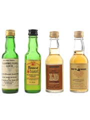 Campbeltown Loch, House Of Stuart, Lord Douglas & Pig's Nose Bottled 1970s 4 x 4.7cl / 40%