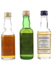 Diners, Harrods & QE2 Bottled 1970s 3 x 4.7cl