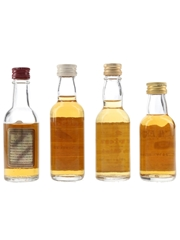 Chivas Regal, Famous Grouse, Morton & Teacher's Bottled 1970s 4 x 5cl