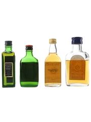 Passport, Scotch No.10, Teacher's & Yates Brothers Bottled 1970s 4 x 3.7cl-7cl
