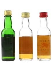 Cameron, Golden Lion & Lowrie Bottled 1970s 3 x 5cl