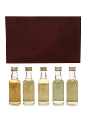 Master Of Malt Miniatures Set Glen Spey, Askaig, Ledaig, Bowmore 5 x 5cl / 43%