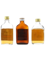 Clan Blend, Haig Gold Label & The Monarch Bottled 1960s-1970s 3 x 5cl