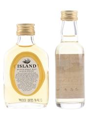 Island Peated & Vintage Mull Malt  2 x 5cl / 40%