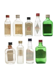 Assorted Gins Incl. Gordons, Plymouth & Beefeater 9 x 5cl