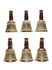 Bell's Ceramic Decanters  6 x 5cl