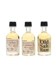 Old Salt Rum & Expedition Number One The Old Salt Depot 3 x 5cl