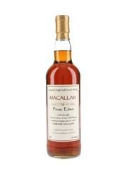 Macallan 1990 16 Year Old Private Edition Bottled 2006 - Aceo Limited 70cl / 55.4%