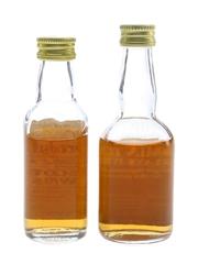 Glendullan 12 Year Old & Tomintoul Glenlivet Bottled 1980s 2 x 5cl