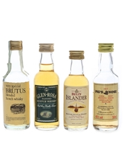 Assorted Blended Scotch Whisky Bell's, Brutus, Glen Rosa & Pig's Nose 4 x 5cl