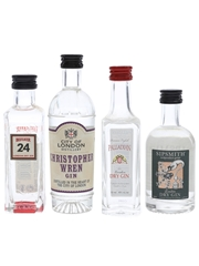 Assorted London Dry Gin Beefeater, Christopher Wren, Palladian & Sipsmith 4 x 5cl