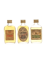 Assorted Speyside Scotch Whisky Glenlivet, Avonside & Glen Grant 3 x 5cl