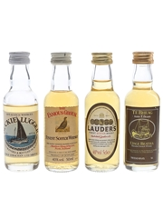 Assorted Blended Scotch Whisky Buckie Lugger, Famous Grouse, Lauder's & Te Bheag 4 x 5cl / 40%