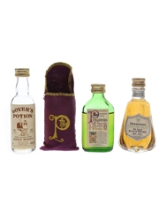 Lover's Potion, Pinwinnie & President Bottled 1980s 3 x 5cl