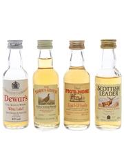 Assorted Blended Whisky Dewar's, Famous Grouse, Pig's Nose & Scottish Leader 4 x 5cl / 40%
