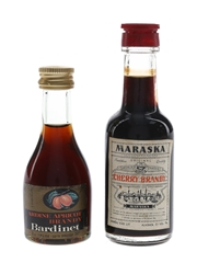 Bardinet, Cusenier & Maraska Cherry Brandy  3 x 3cl-5cl