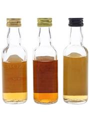 Glenordie, Old Elgin & Royal Lochnagar Bottled 1980s-1990s 3 x 5cl / 40%