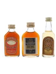 Don Q, Four Bells, Mainbrace Rum Bottled 1980s 3 x 5cl