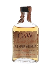 G & W Private Stock Bottled 1930s-1940s 4.7cl / 45%