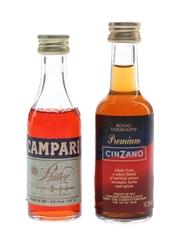 Campari & Cinzano  2 x 5cl