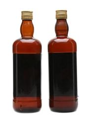 King George IV Blended Scotch Bottled 1970s 2 x 75cl