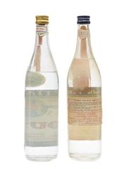 Sans Rival & Mytilene Ouzo Bottled 1970s 2 x 66cl