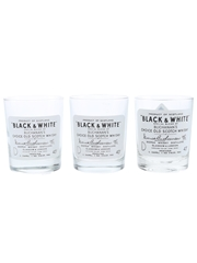 Buchanan's Black & White Whisky Glasses