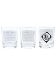 Buchanan's Black & White Whisky Glasses  9cm Tall