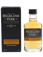 Highland Park 12 Year Old Bottled Pre 2012 5cl / 40%