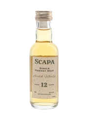Scapa 12 Year Old Bottled 1990s - Hiram Walker 5cl / 40%