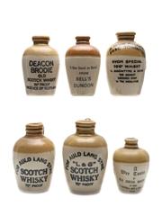 Assorted Scotch Whisky Ceramics  6 x 5cl