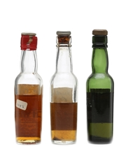Assorted Blended Scotch Whisky Bottled 1950s 3 x 7.5cl