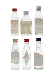 Beefeater, Booth's, Coates, Gilbey's And G&J Bottled 1970s-1980s 6 x 4.7cl-5cl