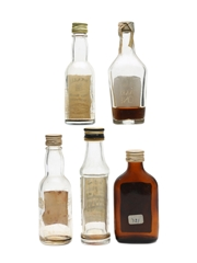 Assorted Blended Scotch Whisky Bottled 1960s 5 x 5cl