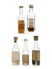 Assorted Blended Scotch Whisky Bottled 1970s 2 x 3cl & 3 x 5cl