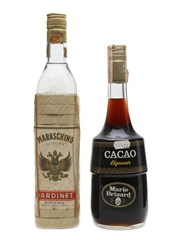 Bardinet Maraschino & Marie Brizzard Cacao Bottled 1980s 2 x 75cl
