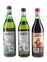 Martini Extra Dry & Rosso Bottled 1980s 100cl & 2 x 75cl