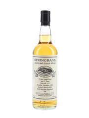 Springbank 1992 27 Year Old Private Single Cask 273
