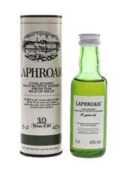 Laphroaig 10 Year Old Unblended Bottled 1980s 5cl / 40%